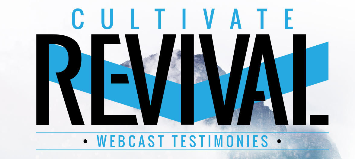 image of cultivate revival logo. Testimonies from live webcast of Cultivate Revival 2016