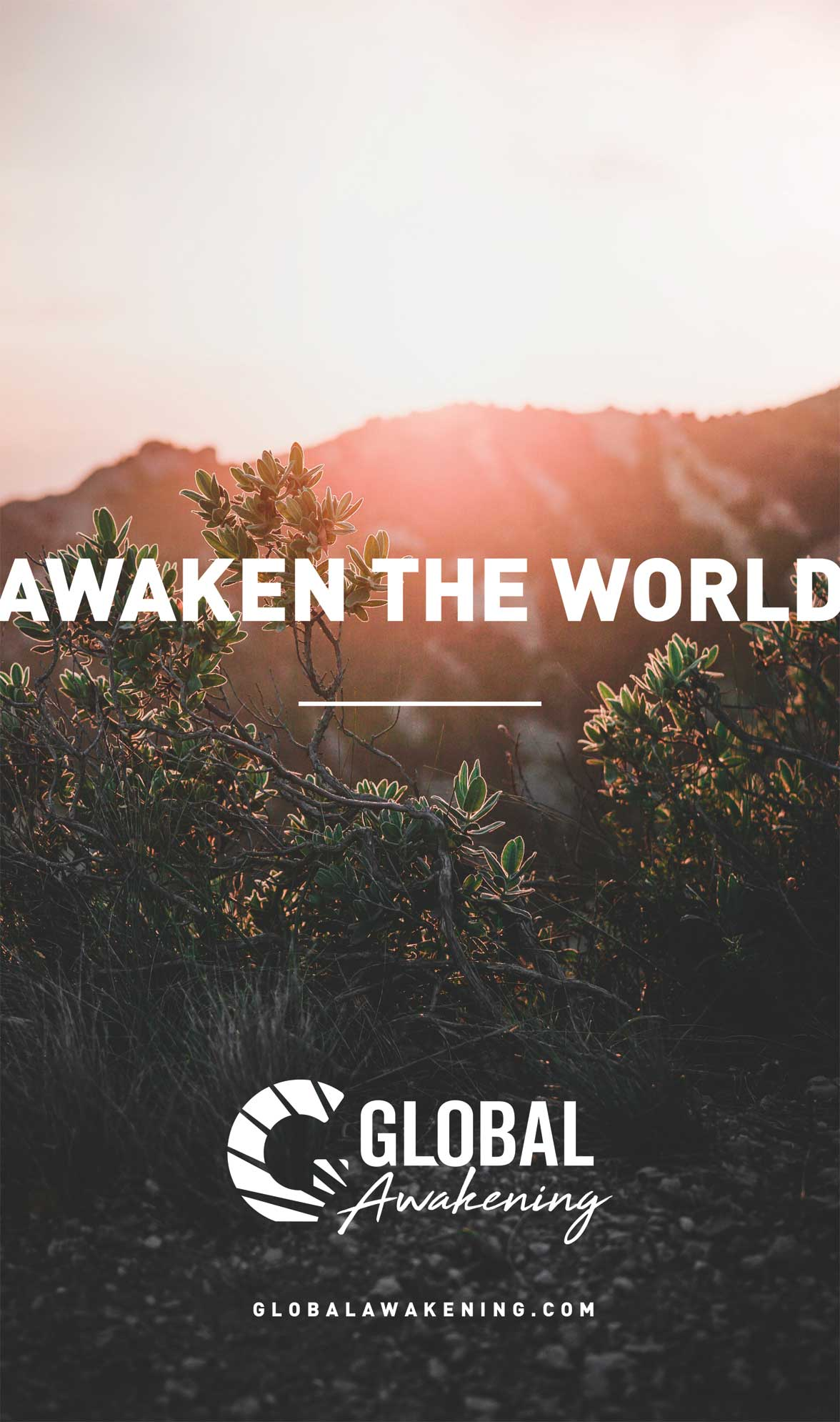 poster of new Global Awakening logo